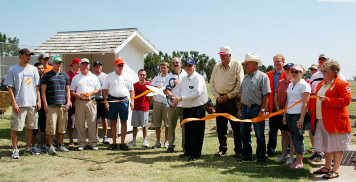 Guymon Ambassadors assisted at the re-dedication ceremony.