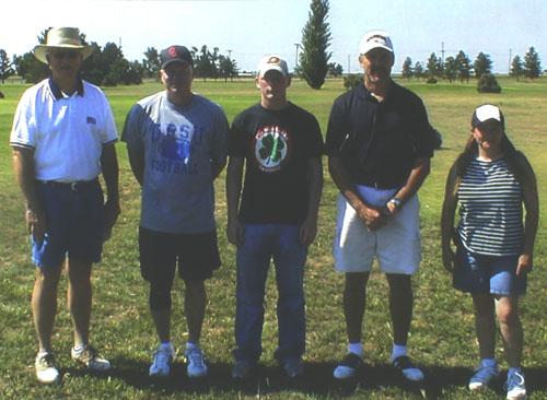 Winners of the annual Fourth of July Scrambles at OPSU Golf Course