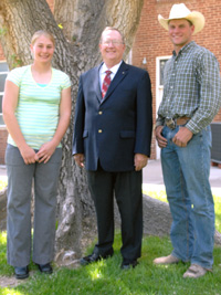 Connie Maas, Dr. Dave Bryant, and Trell Etbauer