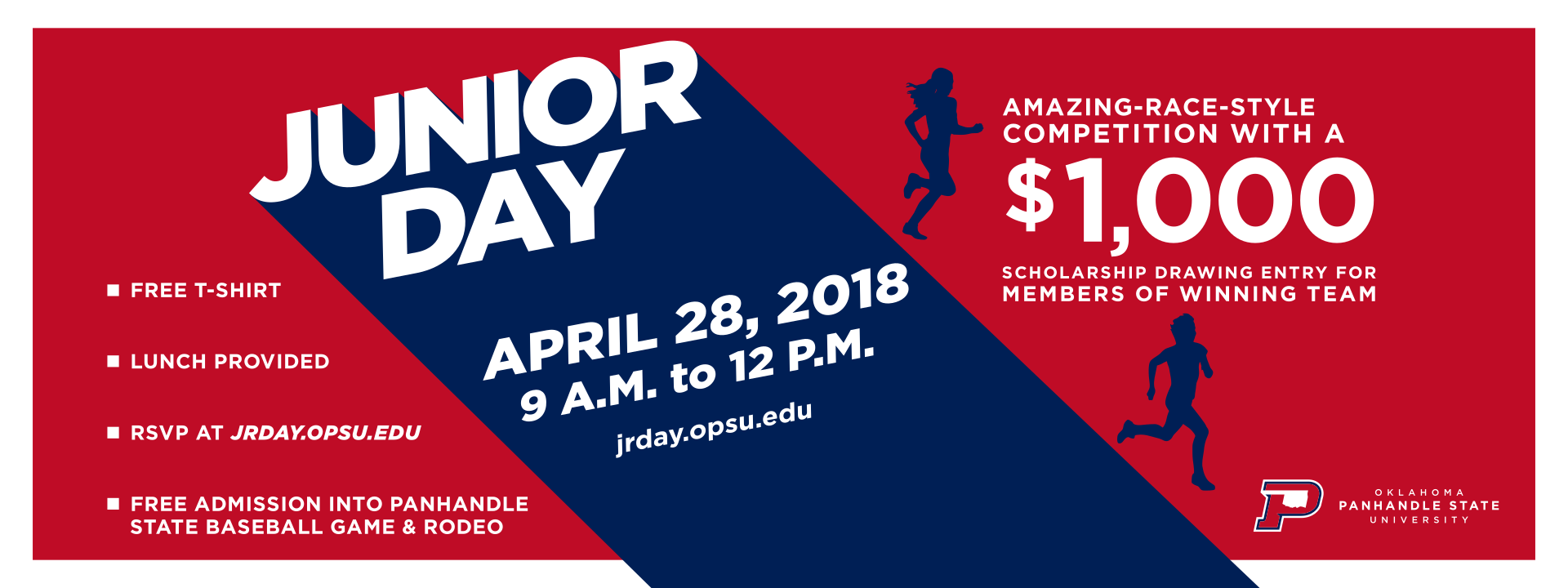 Junior Day - April 28, 2018 9AM to 12PM - AMAZING-RACE-STYLE COMPETITION WITH A $1,000 SCHOLARSHIP DRAWING ENTRY FOR MEMBERS OF WINNING TEAM 