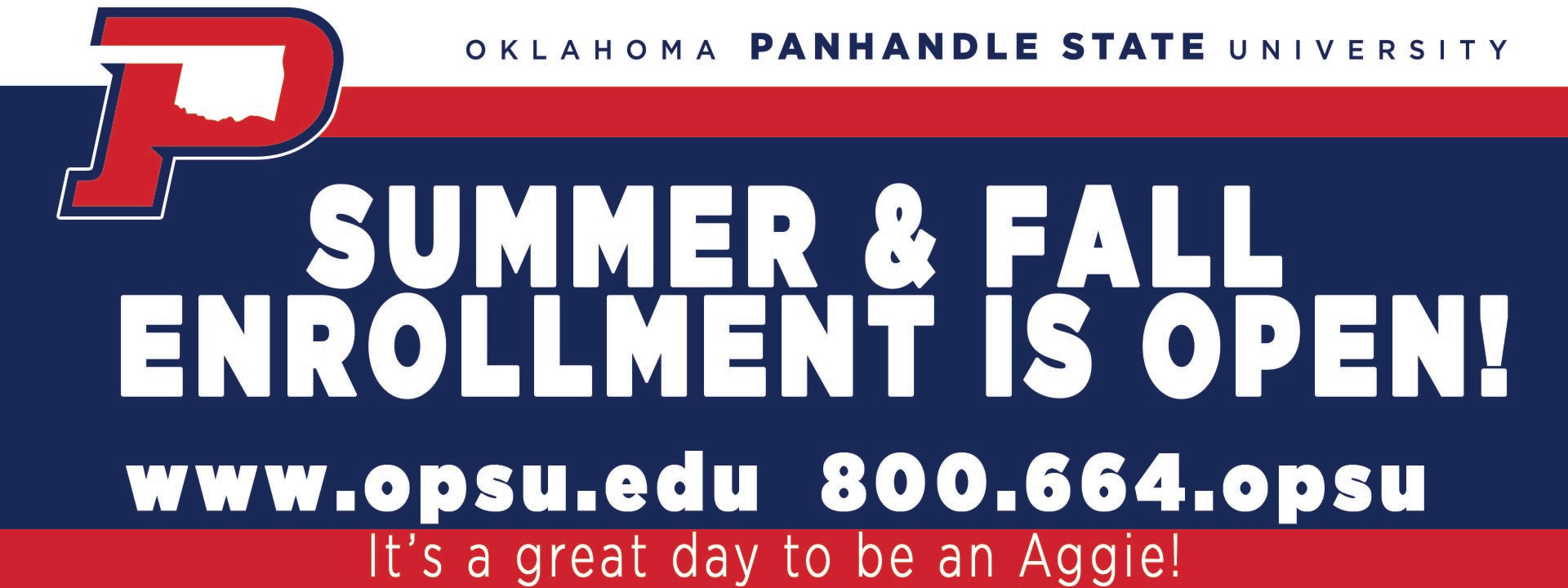 Summer and Fall Enrollment is Open! It's a great day to be an Aggie!