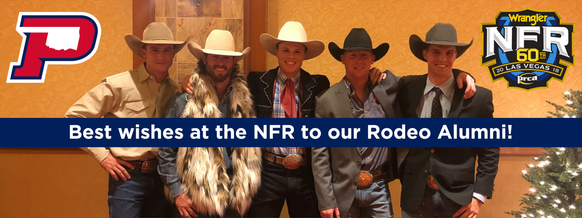 Best Wishes at the NFR to our Rodeo Alumni