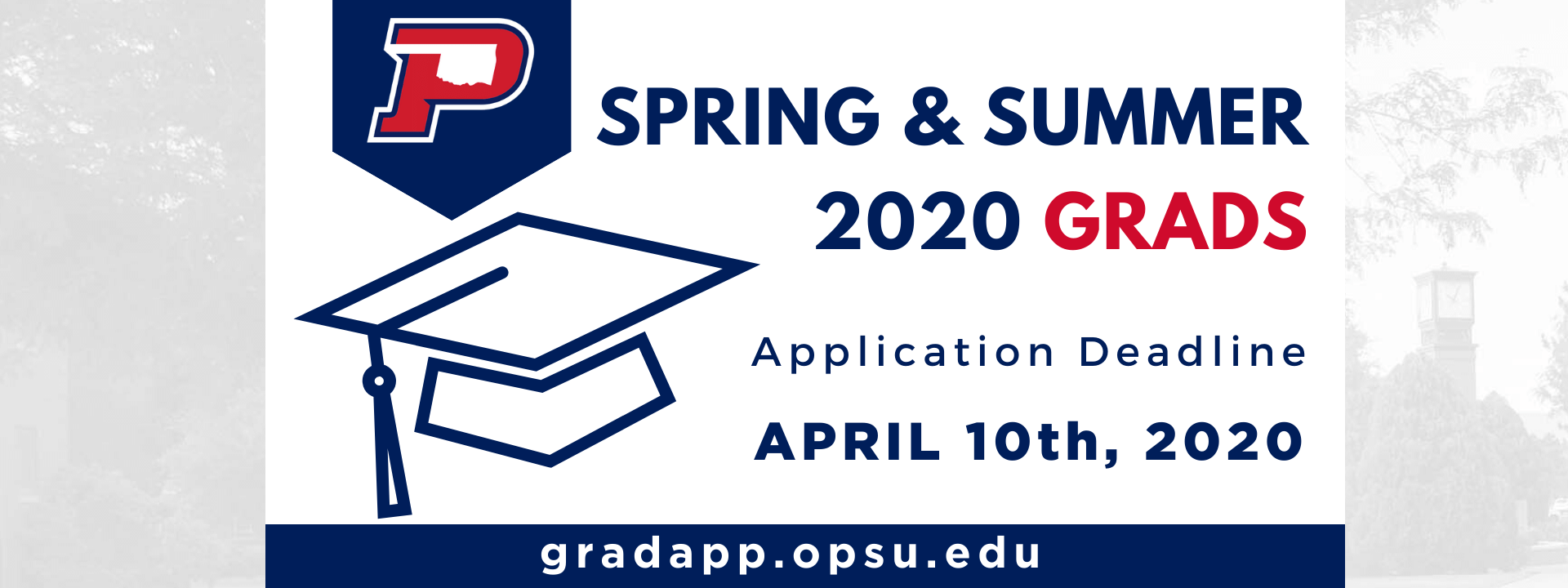 Spring and Summer 2020 Grads - Application Deadline - April 10th, 2020