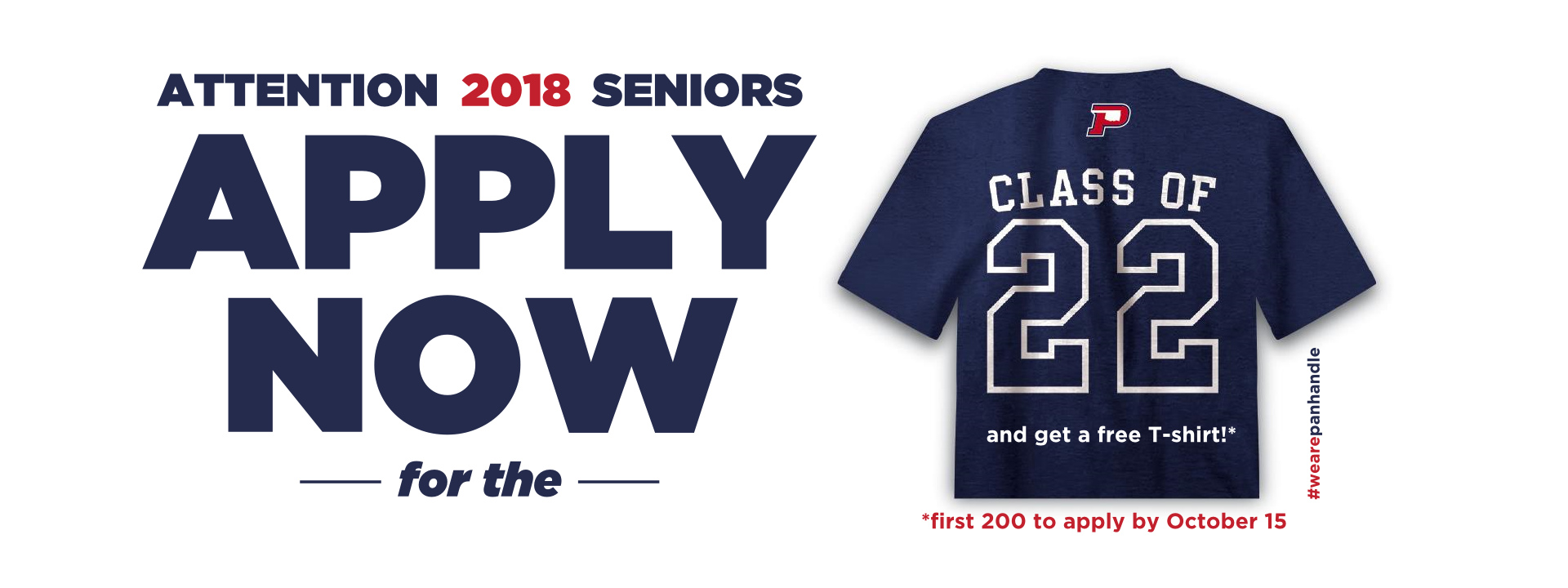 2018 Seniors - Apply Now for a free T-Shirt!