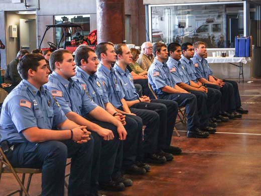Students in the first-ever offering of a two week Fire Fighter 1 Academy pictured here at a ceremony held Sun., Jan. 19. (Courtesy photo)