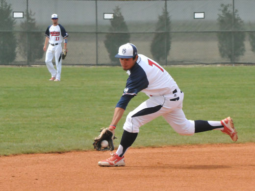 Freshman shortstop Robert Montoya had three putouts and five assists over the two games against TAMIU Friday afternoon.—Vanessa Fehr photo