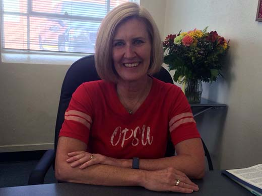 Tere Curtis served as the Housing Director at OPSU for 13 years and is excited to start a new chapter in her life. —Courtesy photo