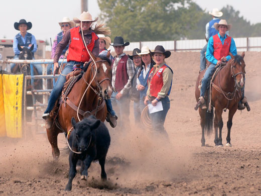 Chaney Latham won round two of the breakaway roping in Colby and finished fourth in the aggregate scoring in that event.—Dale Hirschman photo