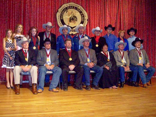 Robert, Billy and Dan Etbauer were inducted into the National Cowboy and Western Heritage Museum Hall of Fame in Oklahoma City, Okla. on Saturday, Sept. 28. —Photo Courtesy Kasey Etbauer