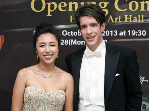 Dr. Rector and his wife, Sylvia Hong, recently returned from a successful concert tour in Korea. —Courtesy photo