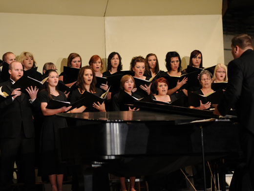 The OPSU Concert Choir will be spreading holiday cheer during their performance on Nov. 29.—Sage Fischer photo