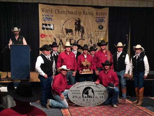 OPSU graduate and former Panhandle State Rodeo Team member Jesse Jolly was a member of the World Champion Ranch Rodeo Team. They competed Nov. 7-9 in Amarillo, Texas.—Courtesy photo