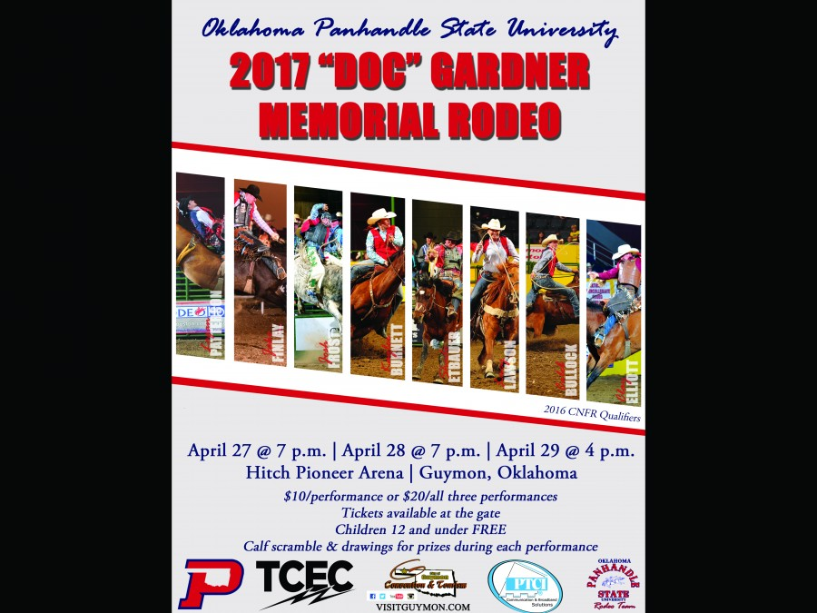 The Oklahoma Panhandle State University Rodeo team will be hosting their hometown college rodeo next weekend on April 27-29.