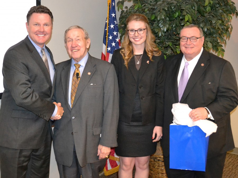 MaKenze Twyman, a senior Agbusiness and Animal Science major, got the chance this past summer to share about her time at Panhandle State with the Oklahoma State Regents for Higher Education. —Courtesy photos