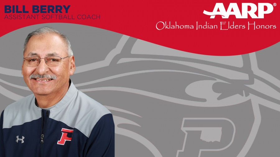 Panhandle State Assistant Softball Coach Bill Berry will receive AARP Oklahoma Indian Elders Honors at a banquet in Oklahoma City on Oct. 3.
