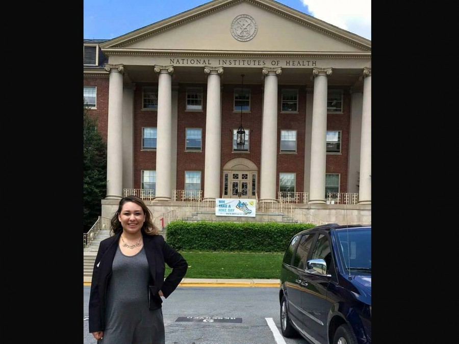 Jocelynn Avalos, a junior at Oklahoma Panhandle State University, got the opportunity to enjoy a summer internship in Bethesda, Md. at the National Institutes of Health (NIH). —Courtesy photo