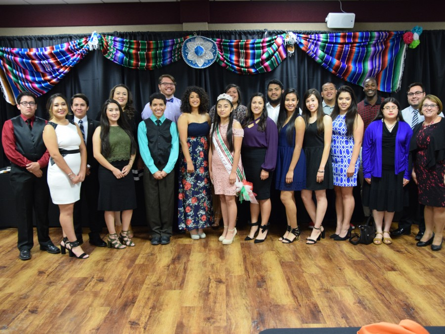 Panhandle State's HALO group pauses for a quick photo following the always favorite Noche de Gala.—Photo by Danae Moore