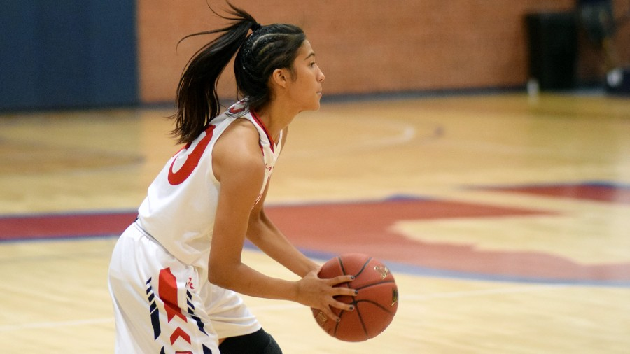 Freshman Naomi Rodriguez had a breakout game against Northern New Mexico College, scoring a career-high of 18 points on the Eagles in Monday night's victory.-Sydney Dougherty photo