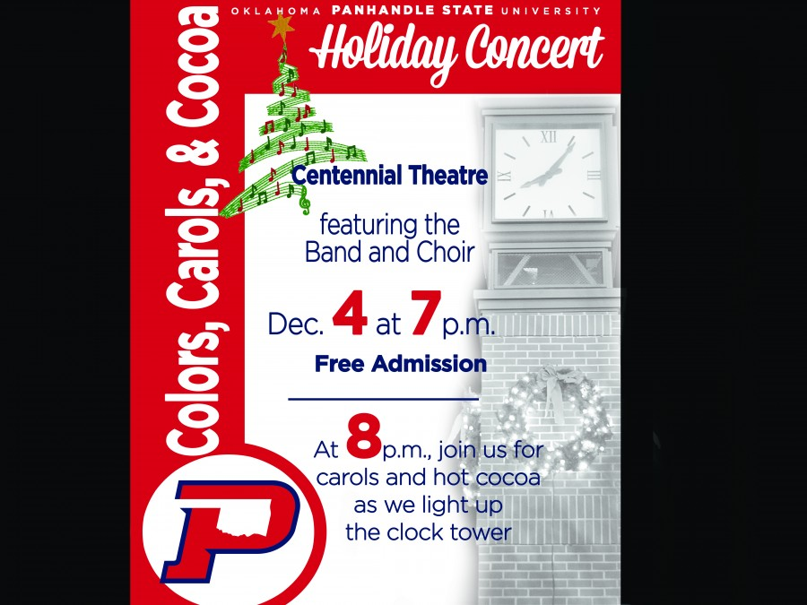 Enjoy the sounds of Christmas during a special Holiday Concert on Monday, December 4th at Centennial Theatre.