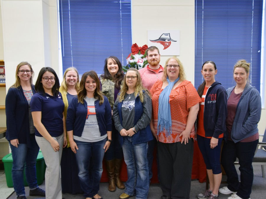 The Panhandle State Staff Association: (left to right) Rene Ramon, Karina Jauregui, Raelee Olson, Abby Rice, Nikki Stork, Calandra Rose, Rantz Trayler, Tammy Clark, Amber Fesmire, and Bonnie Maille. Not pictured: Emma Montoya.