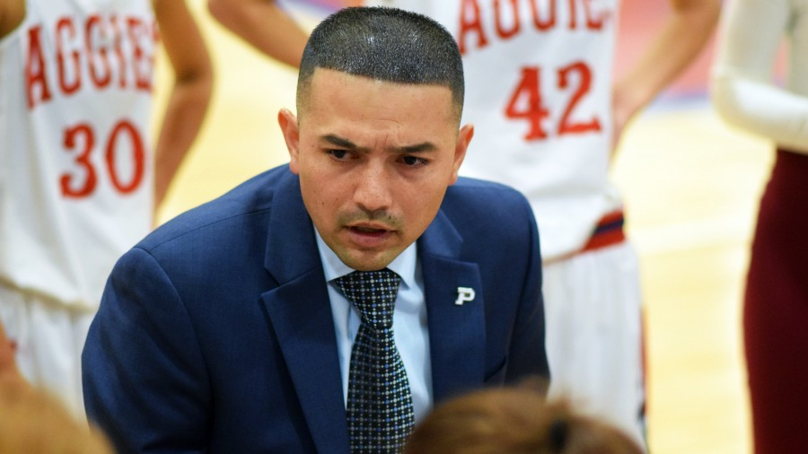 Head Women's Basketball Coach Victor Esparza - Rylee Higgins photo
