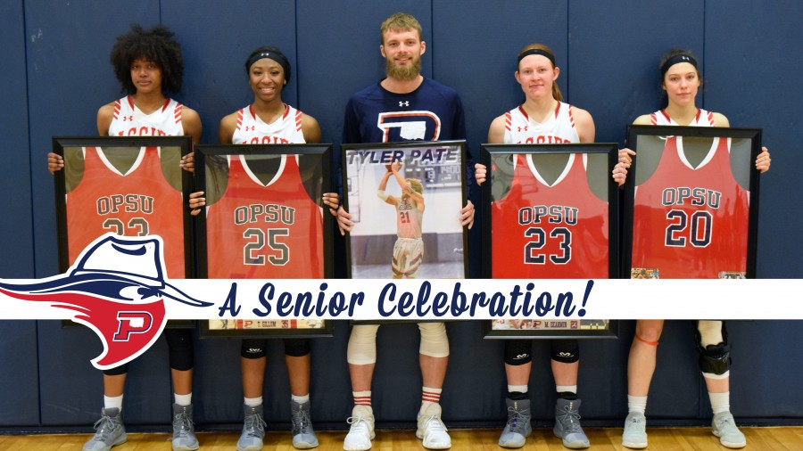 From left, seniors: Tierra Roberson, Teraye Gillum, Tyler Pate, Madison Dearmin and Hannah Southard.-Danae Moore photo