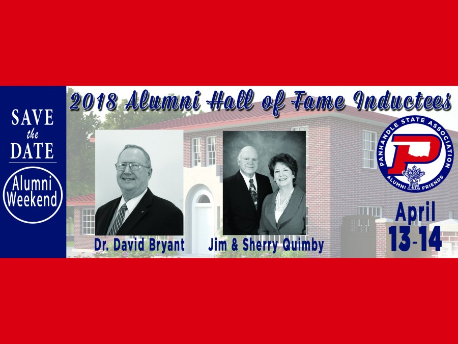 The 2018 Alumni Hall of Fame Honorees are Dr. David Bryant and Jim and Sherry Quimby. They will be inducted into the Alumni Ambassador Hall of Fame during the Alumni Weekend set for April 13-14.