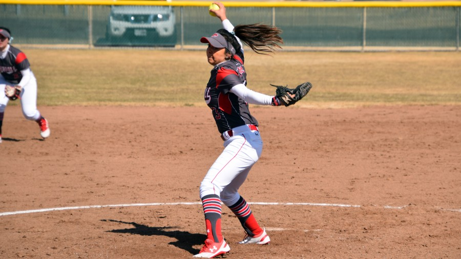 Senior pitcher Julia Ibarra holds a 7-3 season record after gaining two wins at Southwestern College.-Sydney Dougherty photo