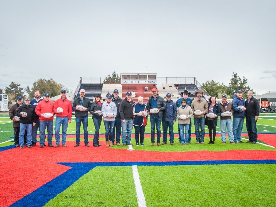 Field Dedication Recipients — Photo by Lisa Schulz