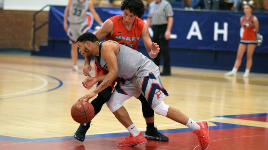 Breiman Alexander put in a huge offensive effort against Barclay College scoring 40 points in the Aggie victory.-Maxine Henderson photo<br />&nbsp;