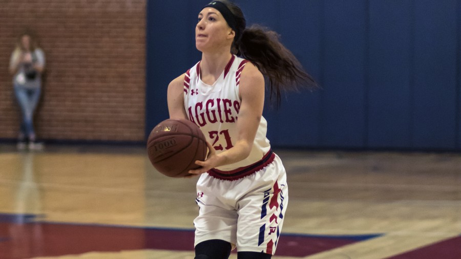 Addison Munsch posted a game-high of 28 points in the Aggies' SAC win over SAGU Saturday. - Beverly Hintergardt photo<br />&nbsp;