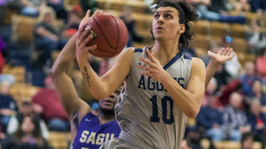 Baris Ulker led the Aggies in scoring Saturday, hauling in 23 points against SAGU. - Beverly Hintergardt photo<br />