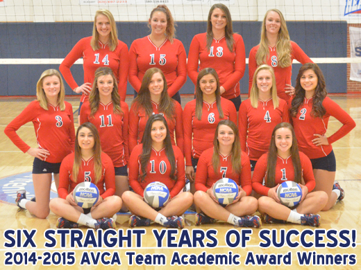 Congratulations to the 2014-2015 OPSU Volleyball team for achieving another year of academic excellence.