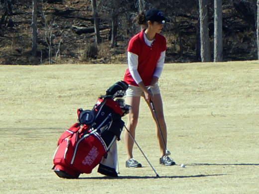 Abbie Ferguson topped the Aggie team at the Bluebonnet Classic in Grand Prairie, Texas.—Courtesy photo (2/24/2014)