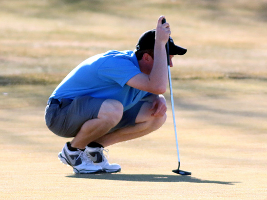 Cole Cramer marked the lowest score for the Aggie men's golf team at the Garden City tournament.—Courtesy photo