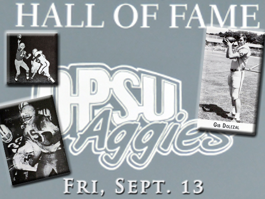 Quarterback Gib Dolezal will be inducted into the 2013 Aggie Hall of Fame.