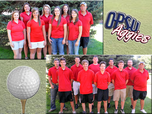 The OPSU Women's and Men's Golf Teams are gearing up for a fresh start to a new season.—Danae Moore photos