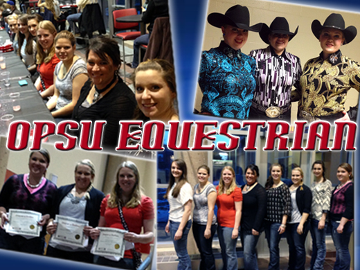 The OPSU Equestrian team finished their season in February ranking fourth in their region.—photos courtesy of Channing Hawks