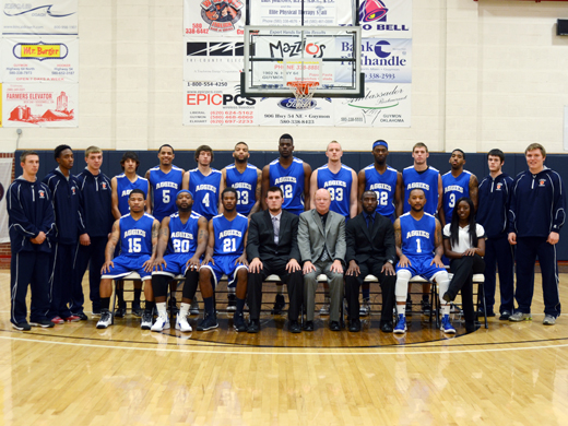 2013-2014 Oklahoma Panhandle State University Men's Basketball Team.—Justine Gaskamp photo
