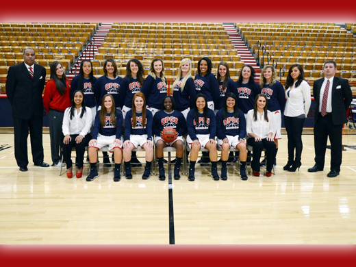 2013-2014 Oklahoma Panhandle State University Women's Basketball Team.—Justine Gaskamp photo