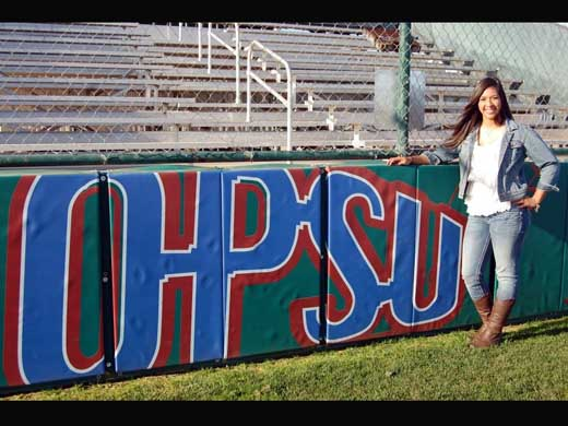 Anyssa Barbosa, an OPSU junior, recently competed in and won the 2015 Hispanic College Quiz Show (HCQ). —Courtesy photo