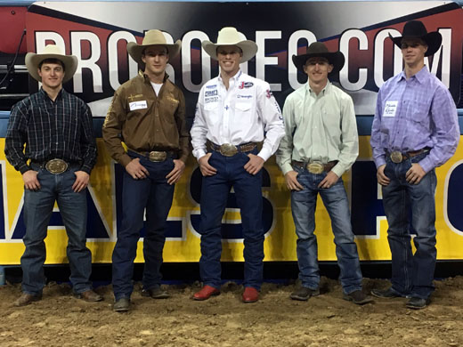 The Panhandle family of five former Aggies earned a combined $481,044.86 at the 2016 WNFR. —Photo by Shelbie Weeder
